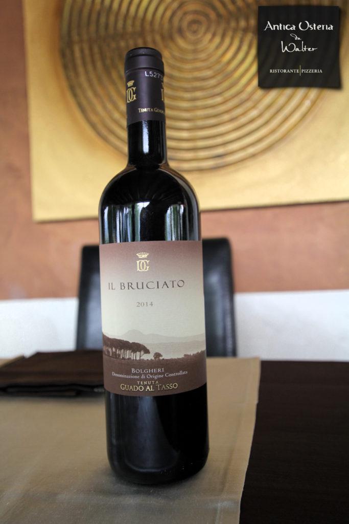 Il Bruciato Bolgheri della Tenuta Guado al Tasso dei Marchesi Antinori è un vino rosso DOC