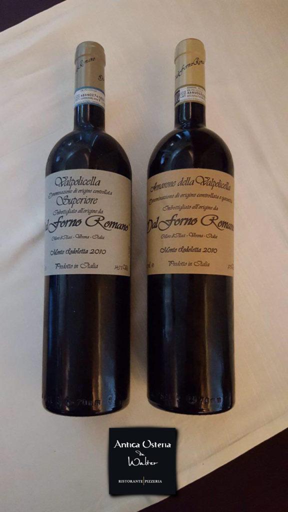 vino della cantina Romano Dal Forno: l'Amarone della Valpolicella e il Valpolicella DOC